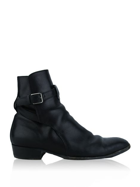 Bota Saint Laurent Paris Hedi Preta Masculino