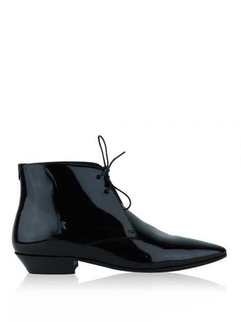 Bota Saint Laurent Paris Jonas Verniz Preto