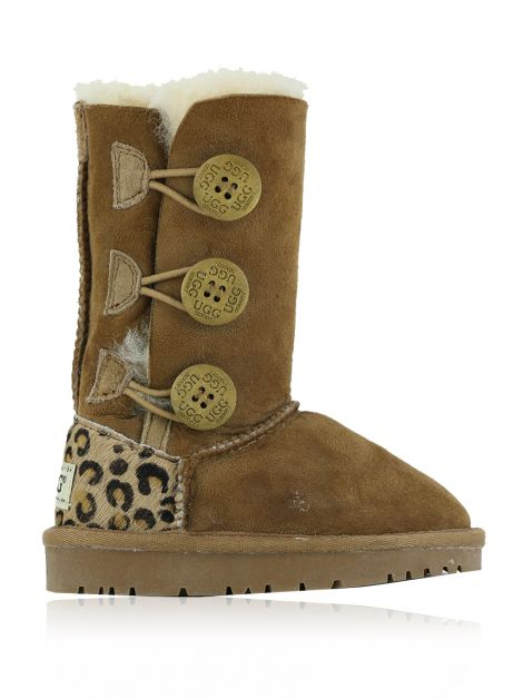 Bota Ugg Ozwear Connection Suede Animal Print Toddler