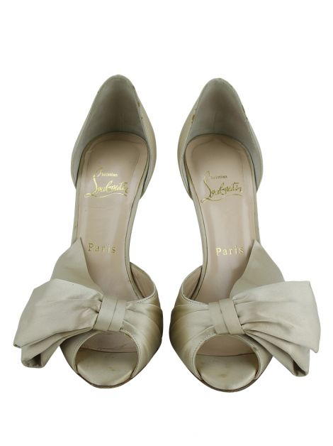 Sapato Christian Louboutin Bow D'Orsay Champagne