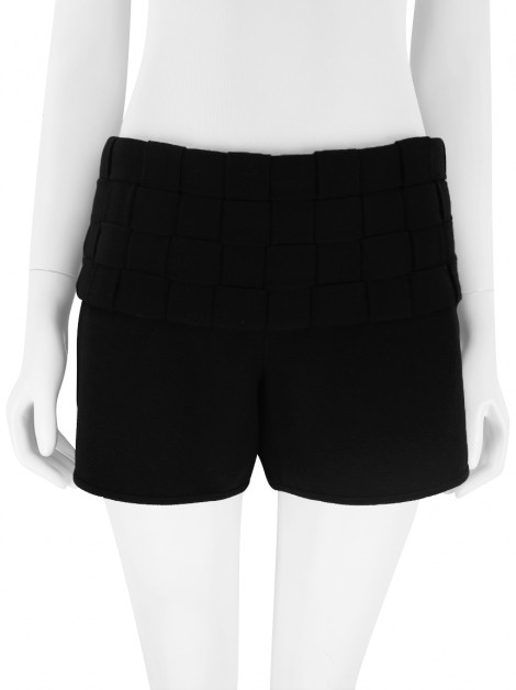 Shorts Mixed Trançado Preto
