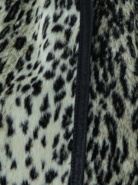 Casaco Mixed Animal Print Bicolor