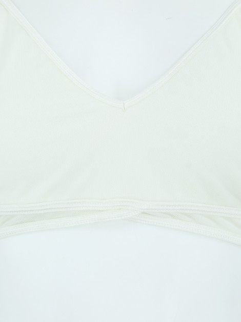 Top Mixed Tule basic Off-White
