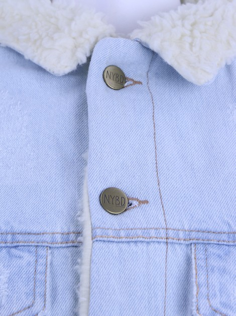Jaqueta N.Y.B.D. Oversized Denim