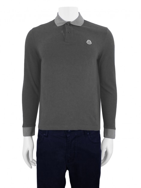 Blusa Moncler Polo Slim Fit  Cinza Masculina