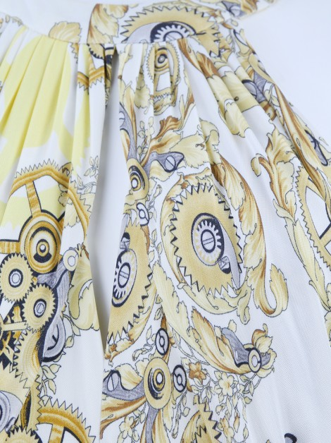 Vestido Versace Collection Malha Estampada