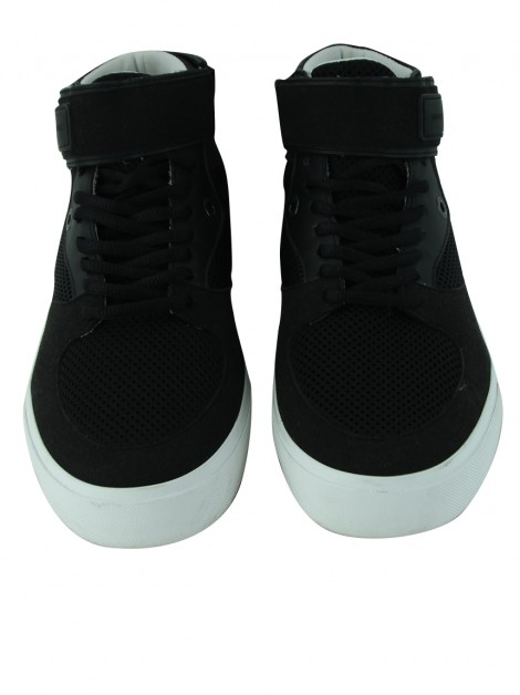 Tênis Armani Exchange Mesh and Faux Suede High-Top