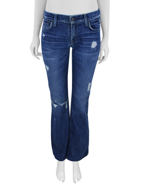 Calça Seven For All Mankind Bootcut Destroyed