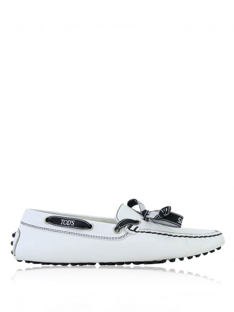Mocassim Tod's Loafer Couro Branco
