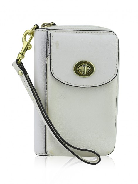 Carteira Coach Wristlet Off White