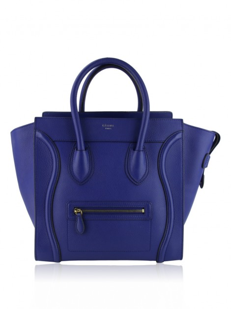 Bolsa Celine Luggage Mini Azul