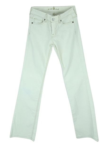 Calça Seven For All Mankind Cotelê Off White