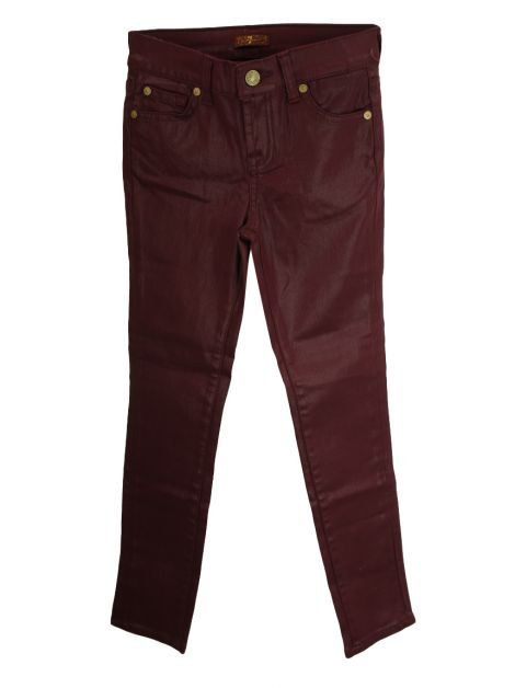 Calça Seven For All Mankind Jeans Bordô Infantil