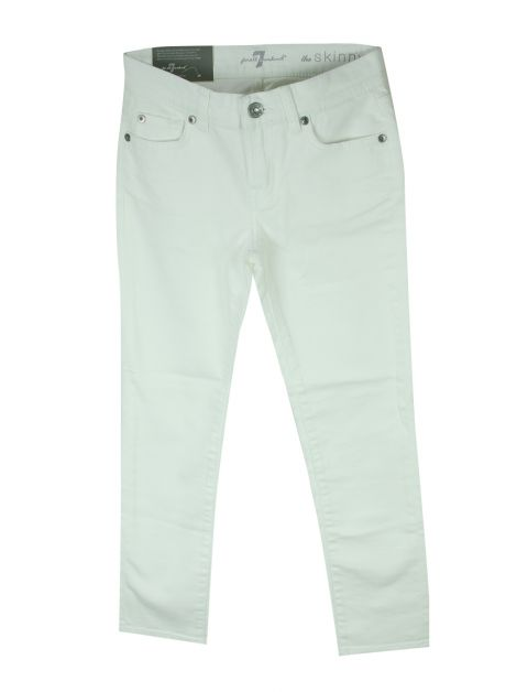 Calça Seven For All Mankind Jeans Branco Infantil
