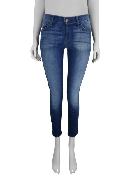 Calça Seven For All Mankind Jeans Skinny Azul