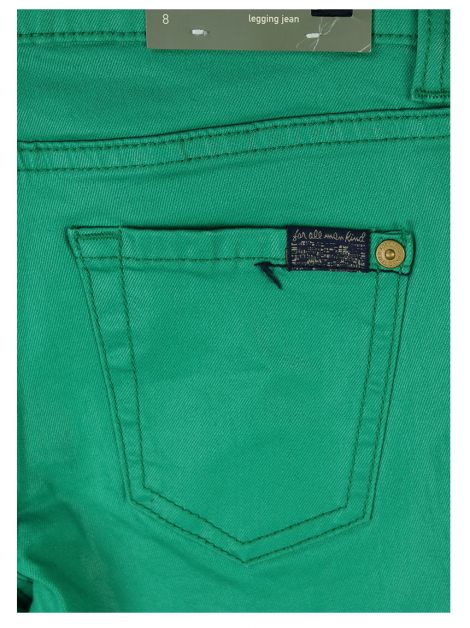 Calça Seven For All Mankind Jeans Verde Infantil