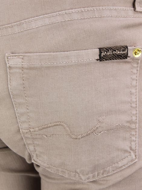 Calça Seven For All Mankind Reta Marrom Claro