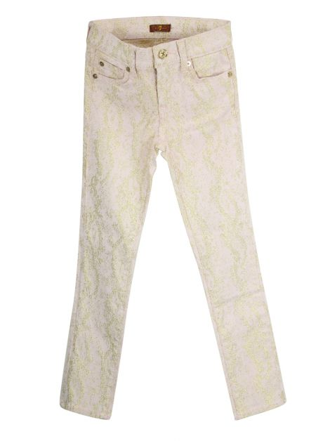 Calça Seven For All Mankind Rosa Estampado