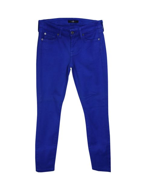 Calça Seven For All Mankind Skinny Resinada Azul