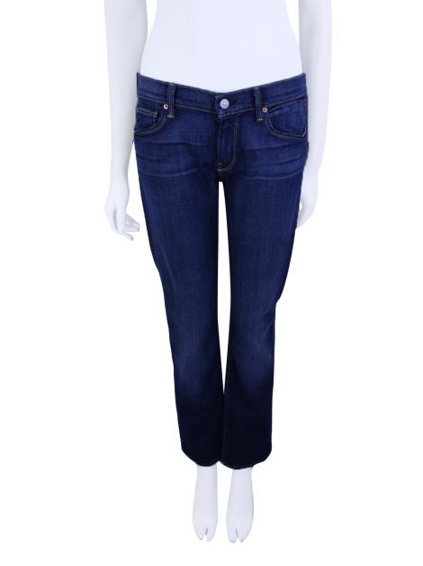 Calça Seven For All Mankind Straight Jeans Azul Escuro