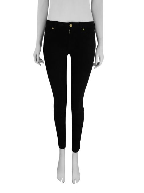 Calça Seven For All Mankind The Sueded Skinny Preto
