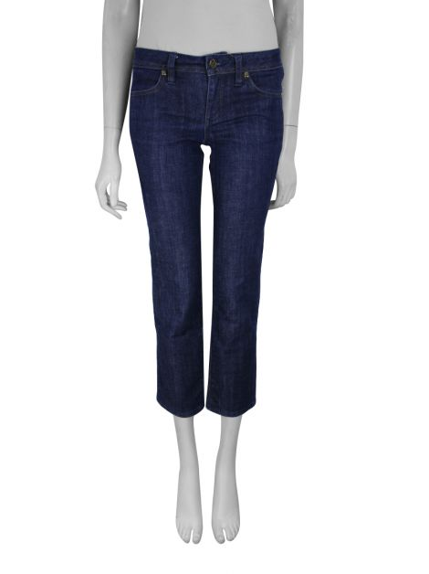 Calça Tory Burch Cropped Slim Jeans