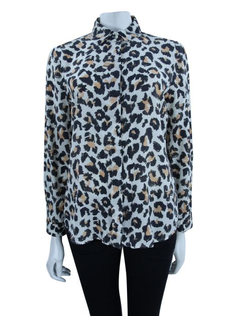 Camisa Animale Animal Print Seda