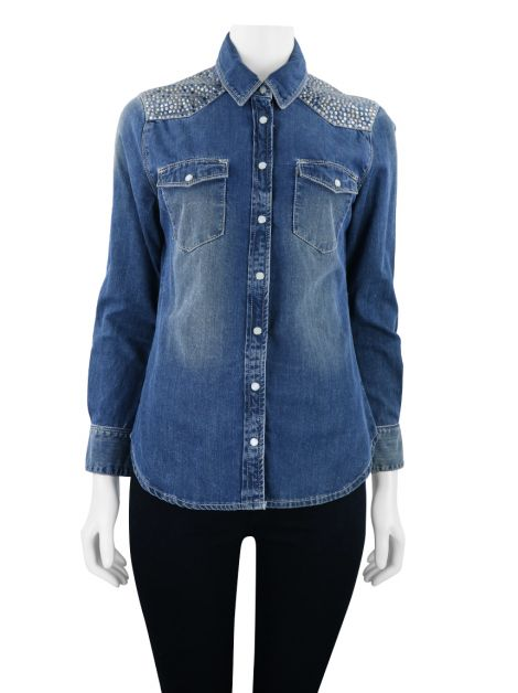 Camisa Animale Jeans Azul