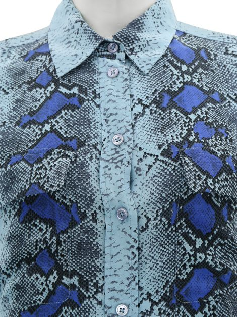 Camisa Equipment Azul Animal Print