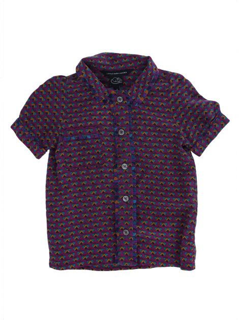 Camisa Little Marc Jacobs Seda Estampada Toddler