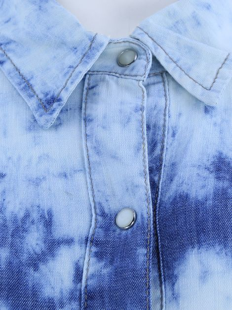 Camisa Mixed Jeans Tie-Dye