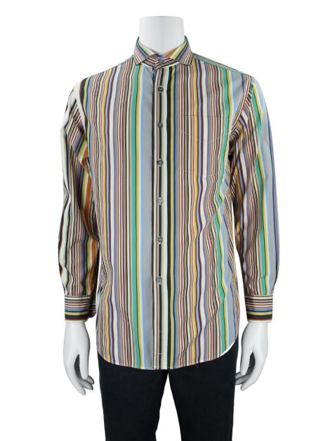 Camisa Paul Smith Listrada Colorida