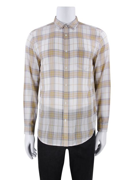 Camisa Seven For All Mankind Xadrez Amarela