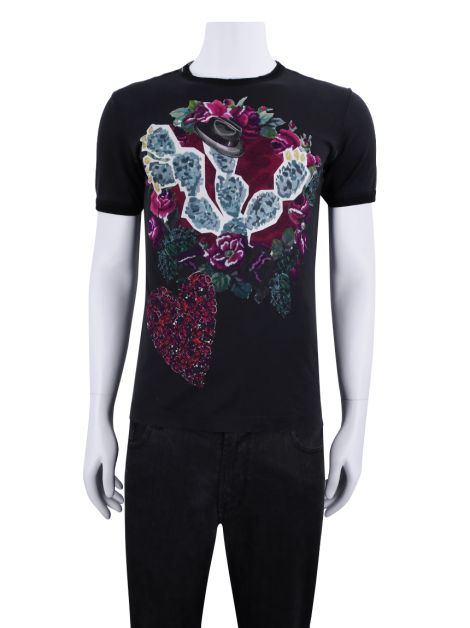 Camiseta Dolce & Gabbana Floral and Heart Print Masculina
