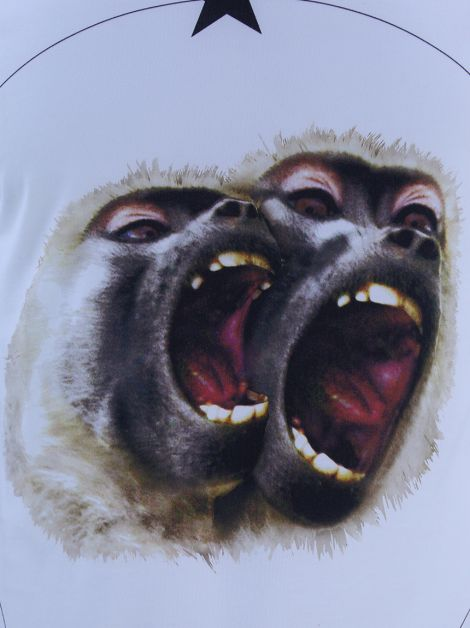 Camiseta Givenchy Monkeys Brothers Masculina Off White