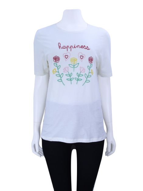 Camiseta Mixed Happiness Off-White