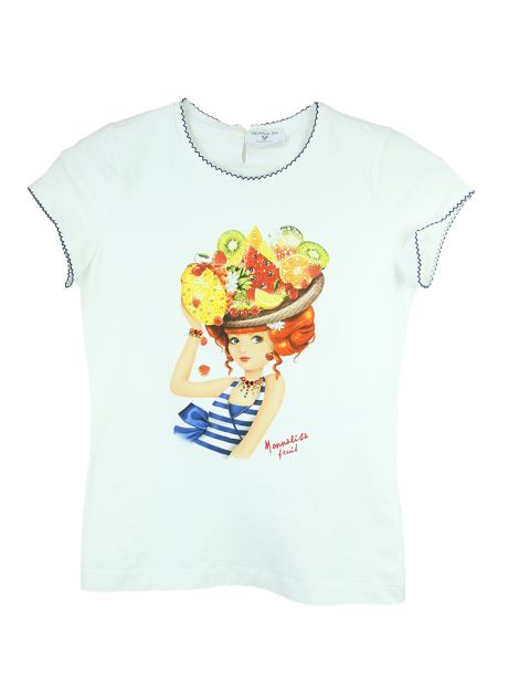 Camiseta Monnalisa Estampa Tropical Infantil