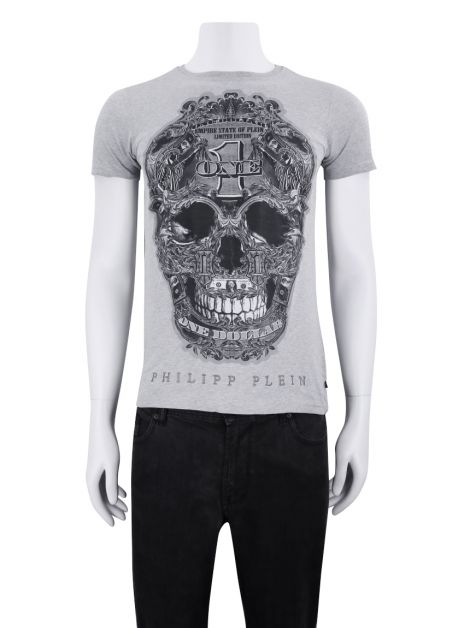 Camiseta Philipp Plein All I Want Cinza Masculina