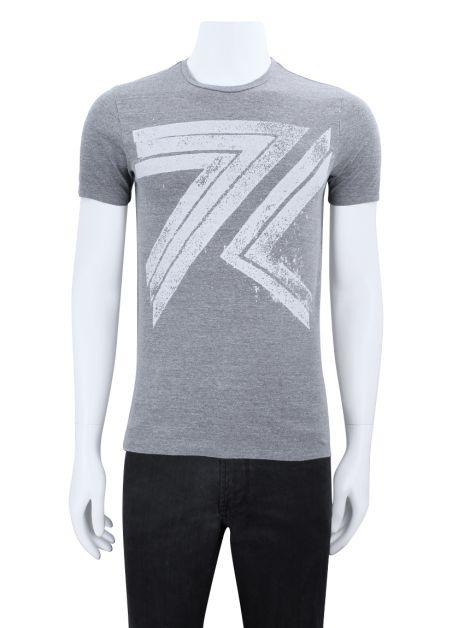 Camiseta Seven For All Mankind Estampada Cinza