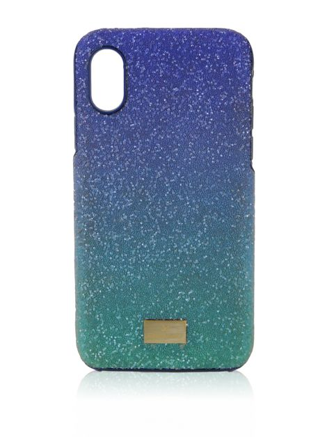 Capa Iphone X Swarovski Cristais Azuis
