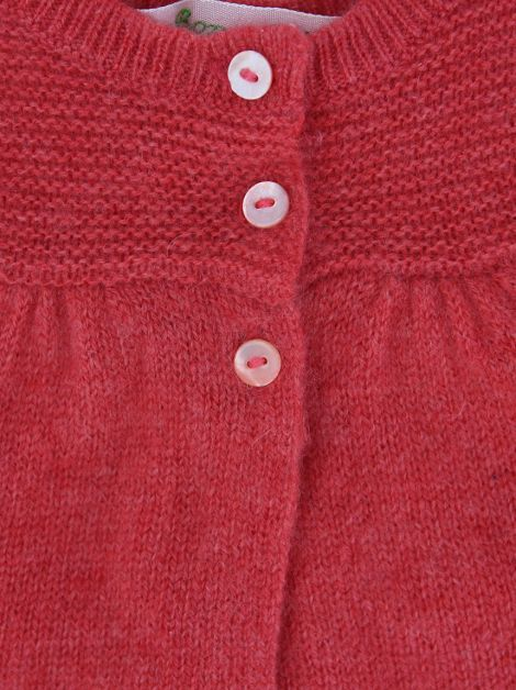 Cardigã Bonpoint Tricot Rosa Baby