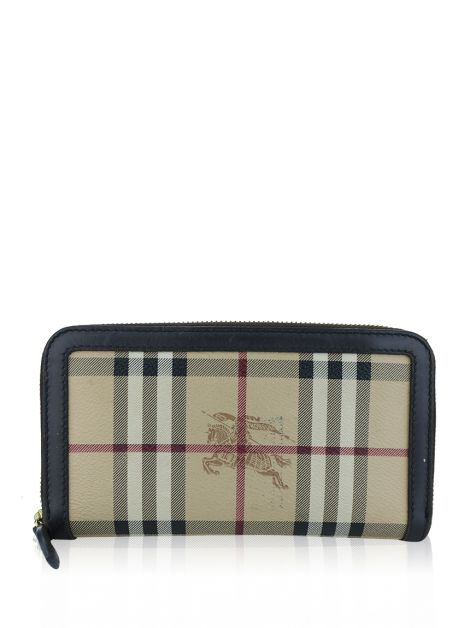Carteira Burberry Ziggy Zip Around Haymarket Check