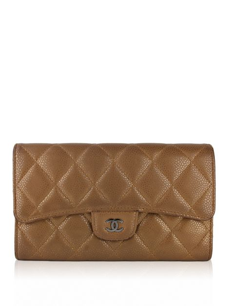 Carteira Chanel CC Bronze