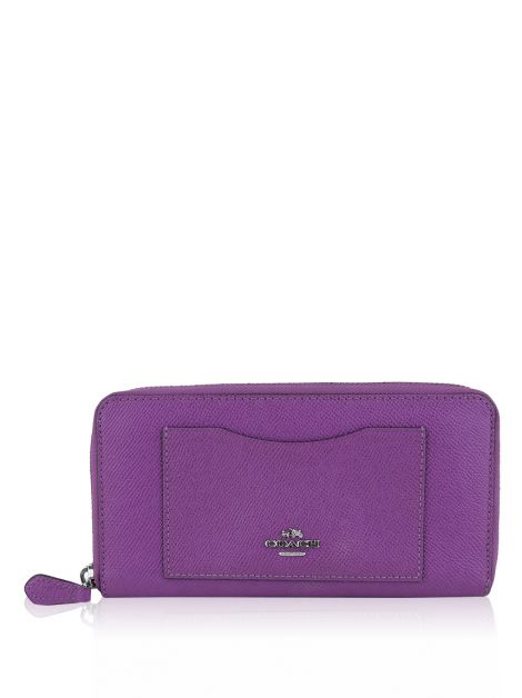 Carteira Coach Accordion Zip Uva