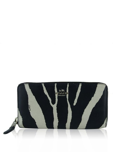 Carteira Coach Accordion Zip Zebra