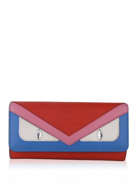 Carteira Fendi Monster Continental Multicolor