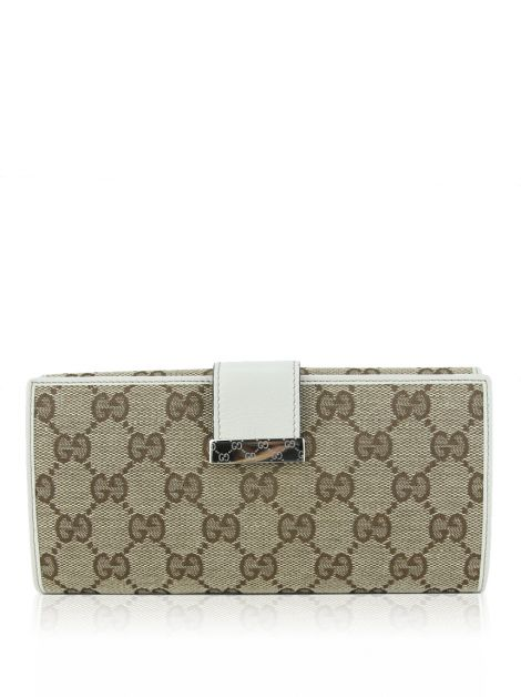 Carteira Gucci GG Canvas Continental Off-White