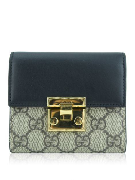 Carteira Gucci Padlock Canvas