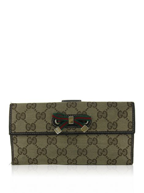 Carteira Gucci Princy Continental GG Canvas