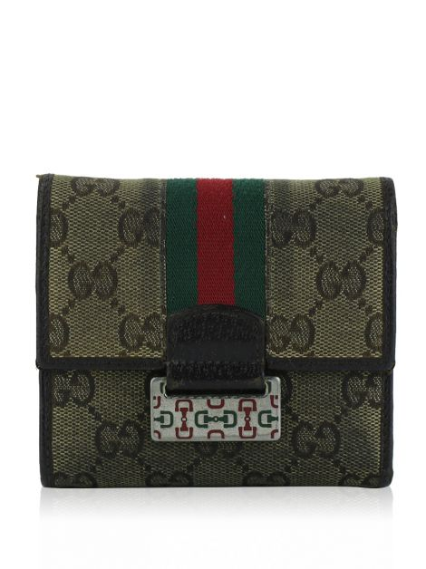 Carteira Gucci Web GG Canvas